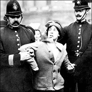 Suffragettes in an early Equality struggle with the Law